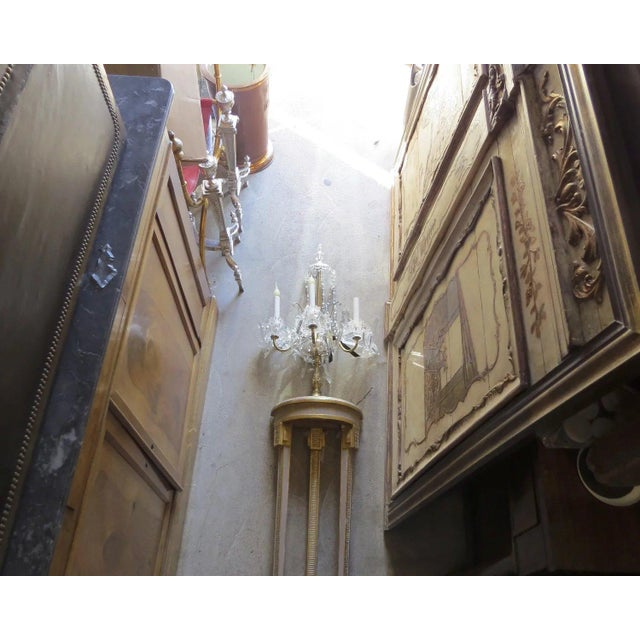 Mid 19th Century Narrow Demilune Table and Sconce For Sale - Image 5 of 9
