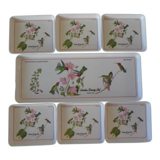 Italian Hummingbird Trays - Set of 7 For Sale