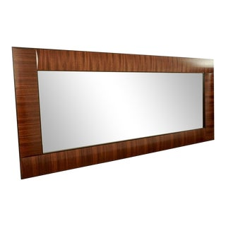 Contemporary Large Wood Framed Rectangular Mirror