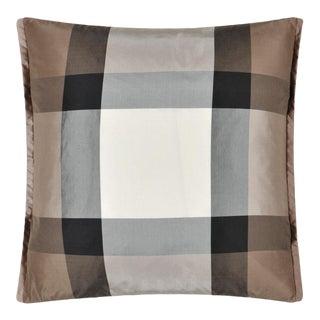 Varanasi Taupe Silk Cushion For Sale