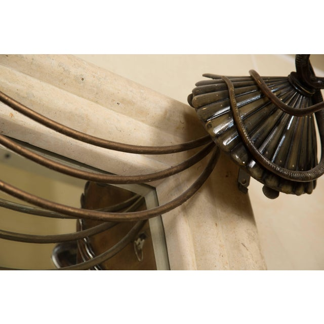 Art Deco Mirror With Edgar Brandt Decoration For Sale In West Palm - Image 6 of 9