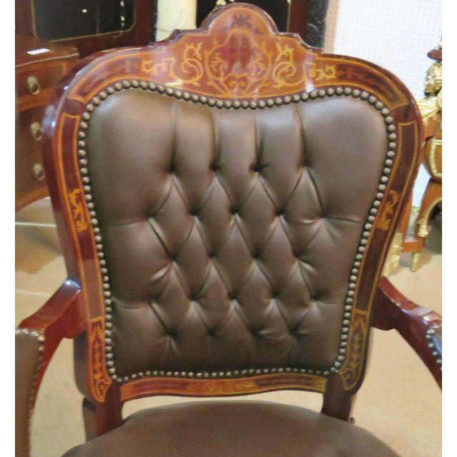 Three-Piece Italian Style Inlaid Figural Office Set For Sale - Image 10 of 11