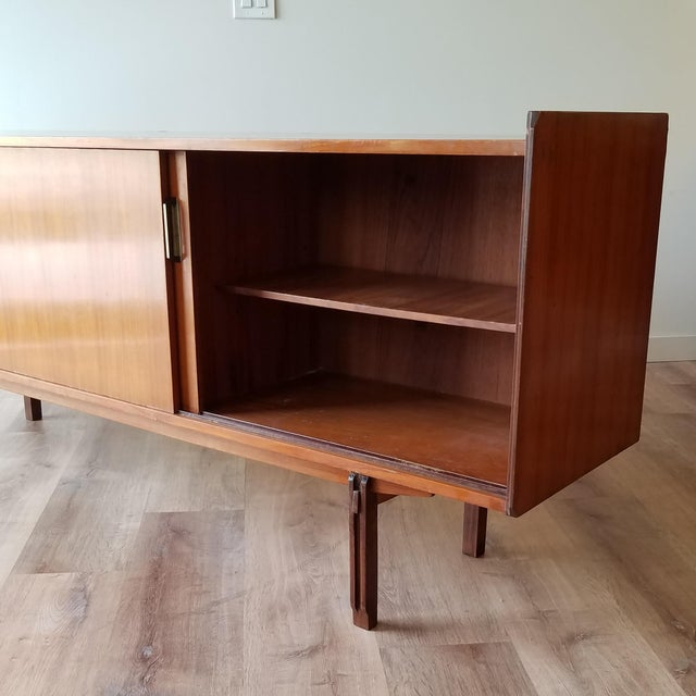 Metal Vintage Mid-Century Modern Italian Credenza For Sale - Image 7 of 12