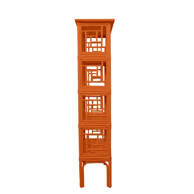 David Francis Chippendale Etagere - Orange For Sale - Image 4 of 5