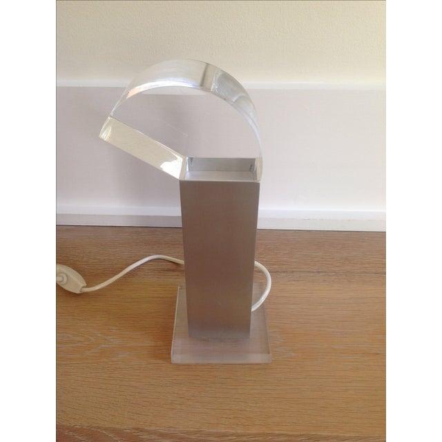 Vintage Missaglia Aluminum & Acrylic Table Lamp - Image 4 of 9