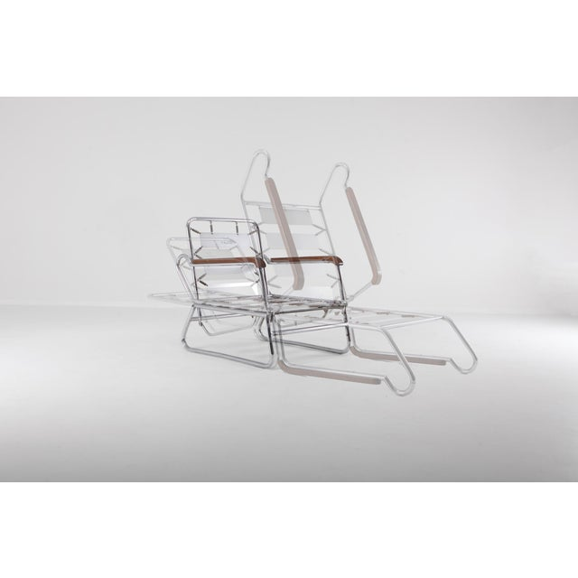 Tubular Chrome Lounge Chair For Sale - Image 10 of 11