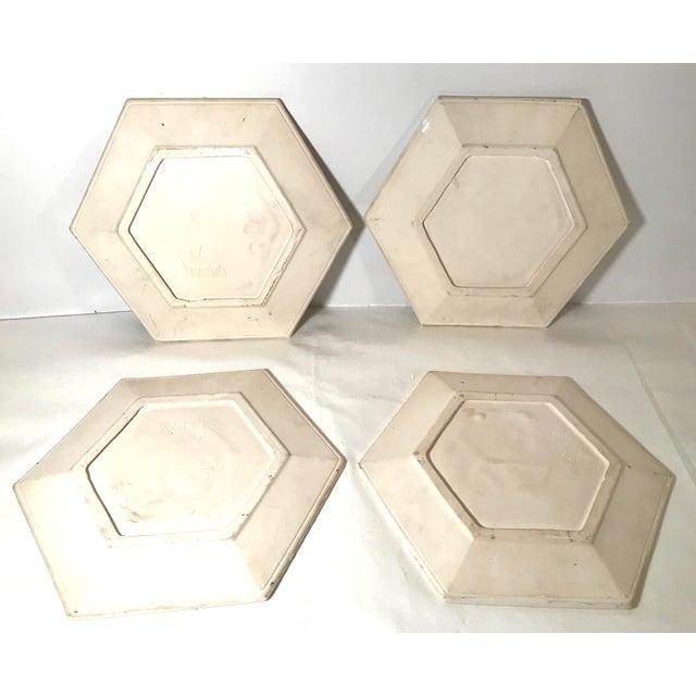 Ceramic Vintage Ceramic Dog Plates - Set of 4 For Sale - Image 7 of 11