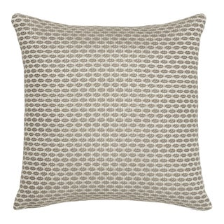 Contemporary Schumacher Hickox Natural Indoor/Outdoor Two-Sided Pillow For Sale
