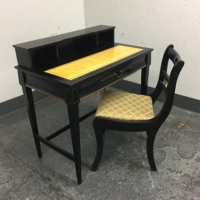 Vintage Secretary Desk & Chair - A Pair - Image 2 of 11