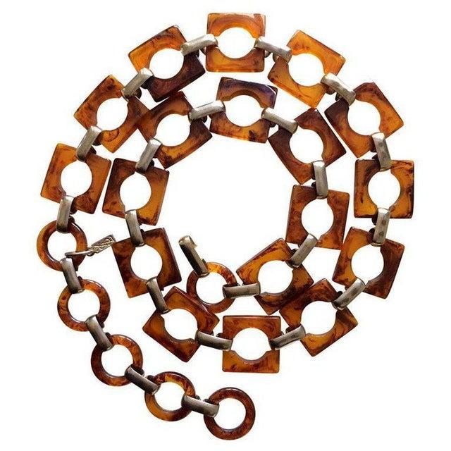 c321f0c83de527 1970s Ysl Tortoise Link Necklace and Belt Vintage Yves Saint Laurent For  Sale In Miami -