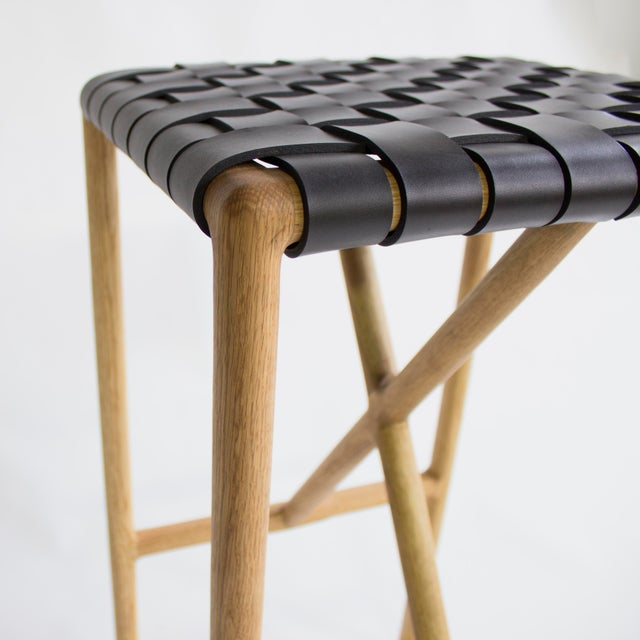 Wood Montgomery Stool For Sale - Image 7 of 8