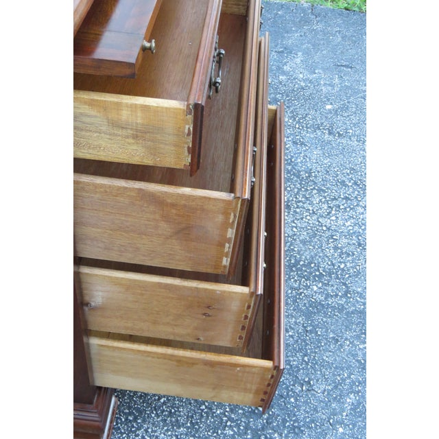 Late 20th Century Solid Cherry Small Dresser With Pullout Tray 2413 For Sale - Image 5 of 13