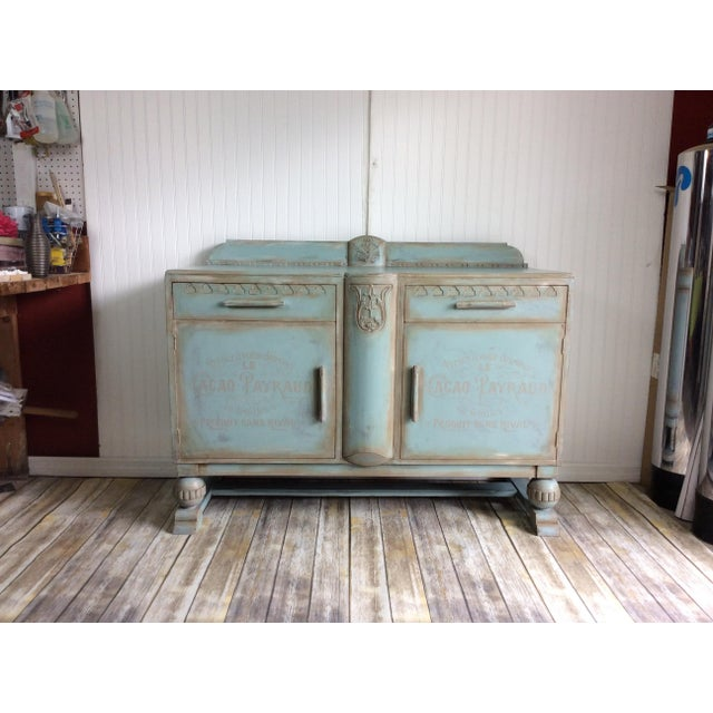 1930s French Cottage Painted Buffet For Sale - Image 13 of 13