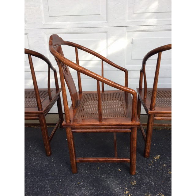 Henredon Asian Elm Caned Chairs - Set of 4 For Sale - Image 10 of 10