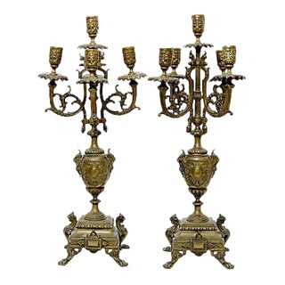 Antique French Candelabras - a Pair For Sale