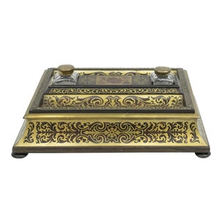 French Napoleon III Boulle Desk Set For Sale