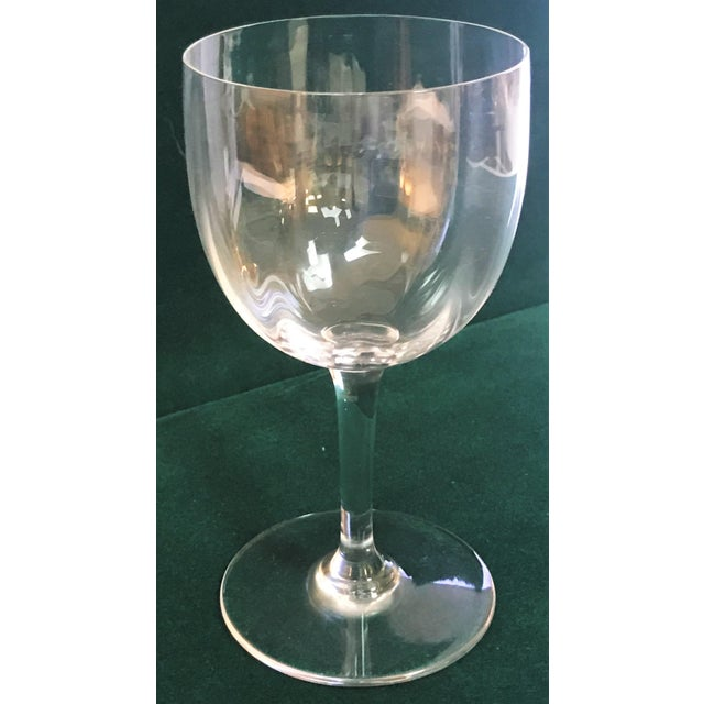 Baccarat Montaigne Optic Crystal Wine Glasses Goblets- Set of 10 For Sale - Image 12 of 13