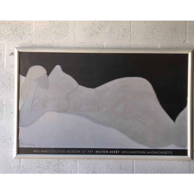 Rare Milton Avery 'Reclining Blonde' Framed Lithograph Print Exhibition Poster. For Sale - Image 12 of 12