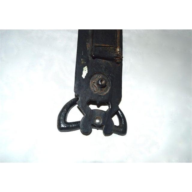 Black Cast Iron Nouveau Knocker W/Letter Slot For Sale - Image 8 of 10