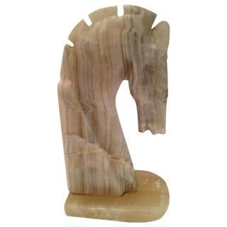 Alabaster Horse Bookend