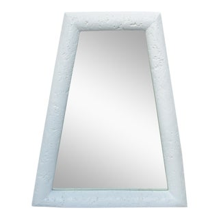 C1970s Vintage Plaster Mid-Cenutry Modernist Trapezoid-Shaped Mirror For Sale
