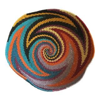 Boho Swirled Large Serving or Decor Basket