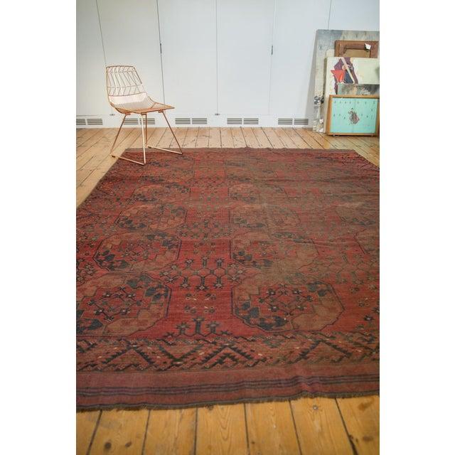 "Blue Vintage Ersari Carpet - 8'2"" X 9'8"" For Sale - Image 8 of 10"