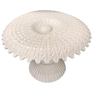 White Lacquered Sculptural Sunflower Table, in the Manner of Pedro Friedeberg For Sale