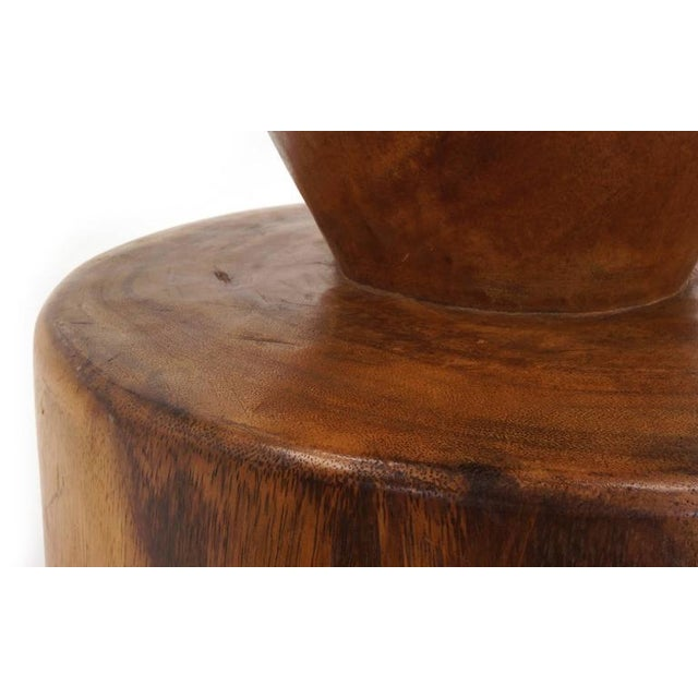 Walnut Set of Four 1960s Barstools of Solid Walnut and Exotic Woods For Sale - Image 7 of 10