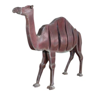 Lifesize Copper Camel Sculpture by Ken Kalman For Sale