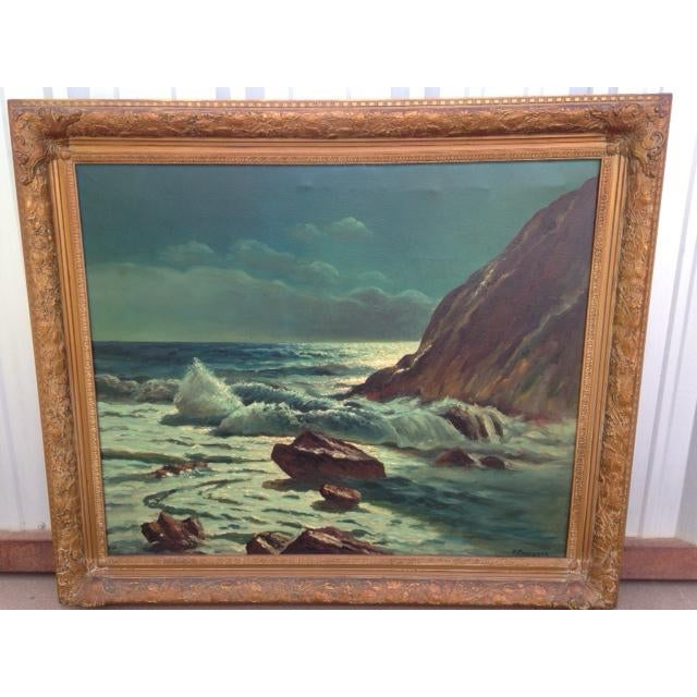 Frank Ferruzza Original Oil Sea Scape - Image 2 of 5