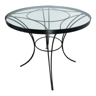 1950s Art Deco Arturo Pani Iron and Brass Bistro Table For Sale