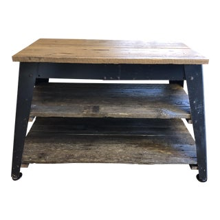 Industrial Barnwood Console Table