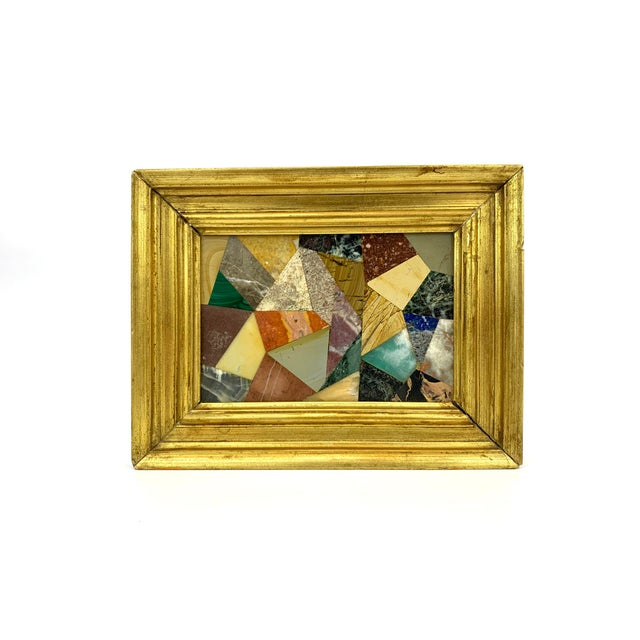 G. Ugolini Italian Pietra Dura Stone Framed Abstract Mosaic Artwork For Sale - Image 9 of 9