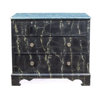 Faux Finished English Period Chest of Drawers For Sale