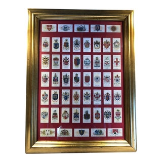 1905 Will's Tobacco/Cigarette Cards Collage, Framed For Sale