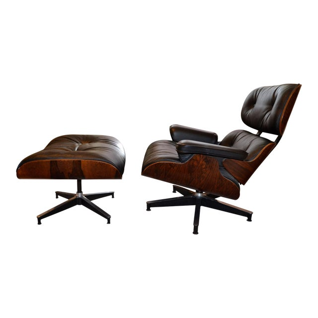Vintage Eames for Herman Miller Rosewood Lounge Chair & Ottoman - A Pair - Image 1 of 6