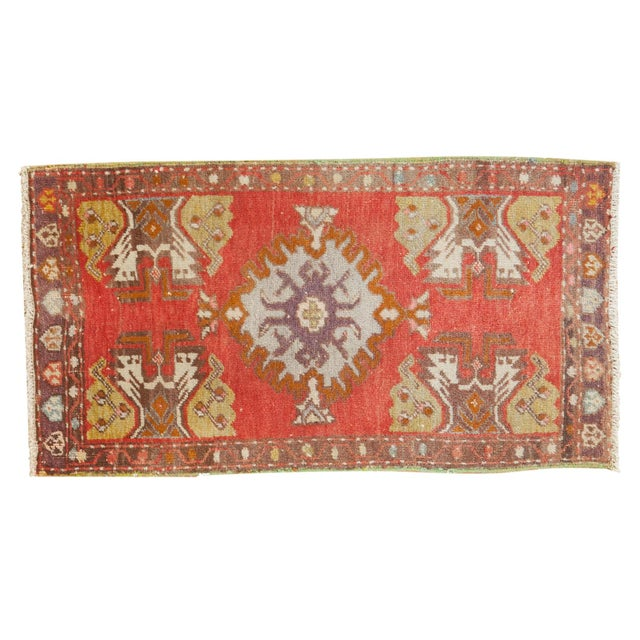 "Vintage Oushak Rug Mat - 1'6"" X 2'9"" For Sale In New York - Image 6 of 6"