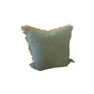 Lacefield Burlap Fringe Linen Pillow For Sale