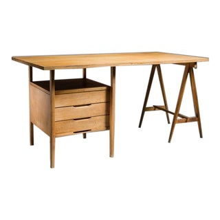 Rare Angelo Mangiarotti Studio Desk, Italy, 1960s For Sale