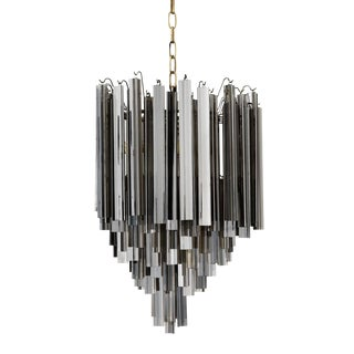 Smoked Glass Chandelier by Eichholtz Salerno For Sale