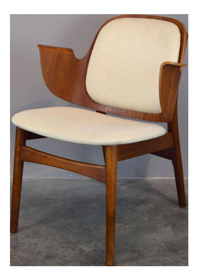 Hans Olsen Lounge Teak U0026 Oak Lounge Chair Model 107 For Bramin Mobler,  Denmark,