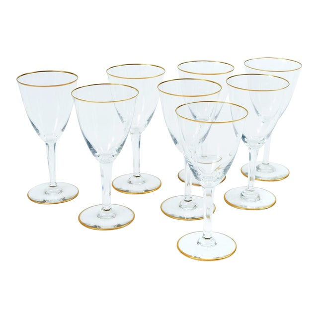 Baccarat Crystal Barware / Tableware Glassware - Set for 8 For Sale