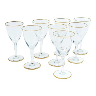 Baccarat Crystal Barware / Tableware Glassware Set for 8 People . For Sale