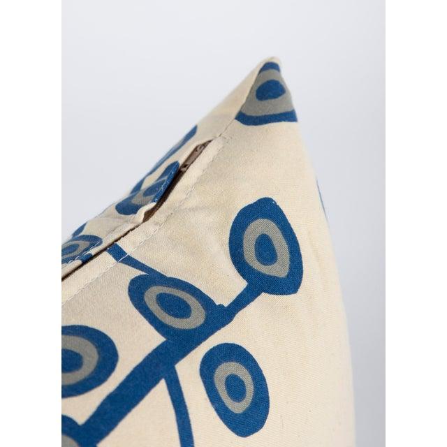 Scandinavian Floral Cream Lumbar Pillow For Sale - Image 4 of 6