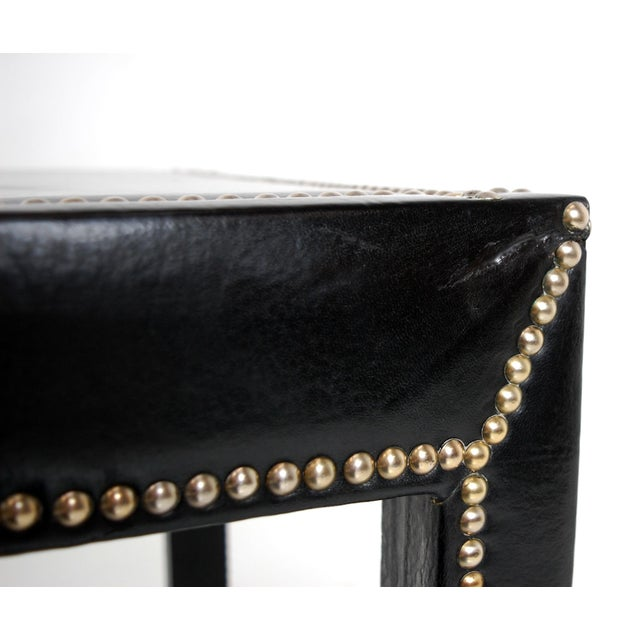 Animal Skin Vintage Mid-Century Italian Leather Studded Side Tables - A Pair For Sale - Image 7 of 9