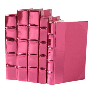 Metallic Collection French Rose Books - Set of 5 For Sale