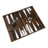 Image of Wood Grain Lacquer Backgammon Set For Sale