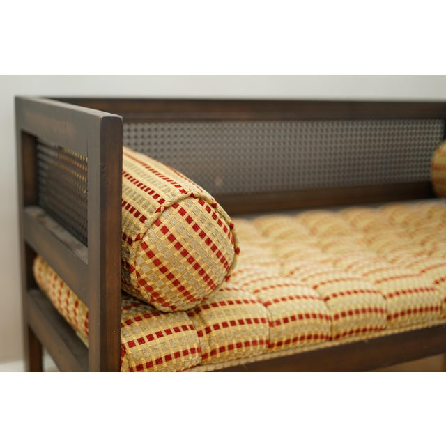Wood Mid-Century Modern Lewitte's Cane Settee For Sale - Image 7 of 11