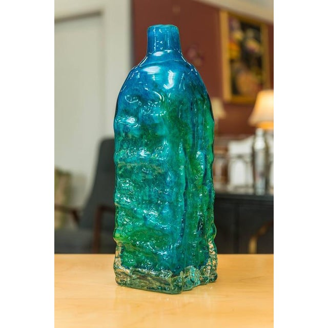 Mdina Glass Textured Vase For Sale - Image 5 of 7